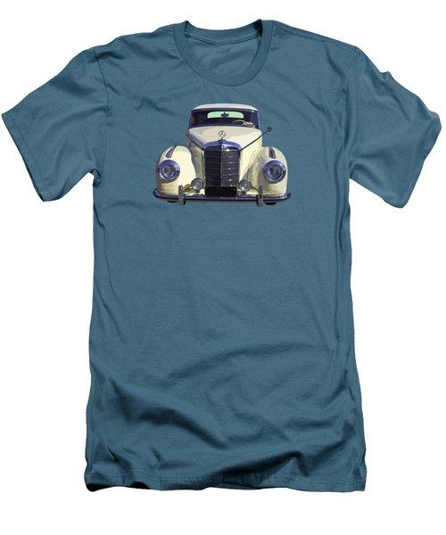 Classic White Mercedes Benz 300  Men's T-Shirt (Athletic Fit)