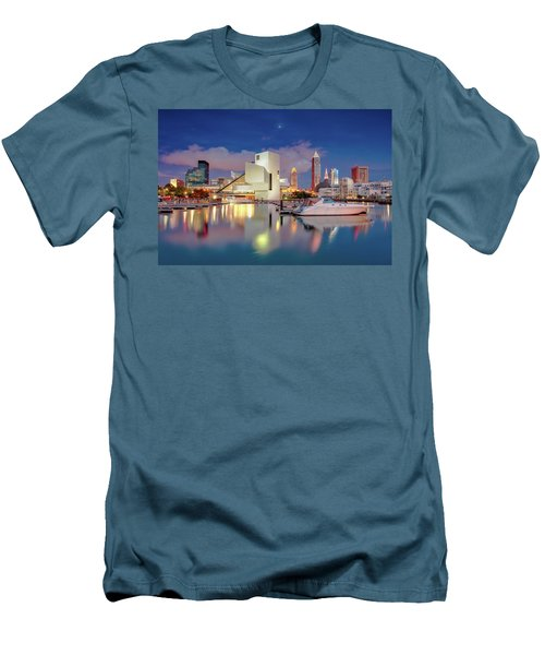 Men's T-Shirt (Slim Fit) featuring the photograph Cleveland Ohio 2  by Emmanuel Panagiotakis