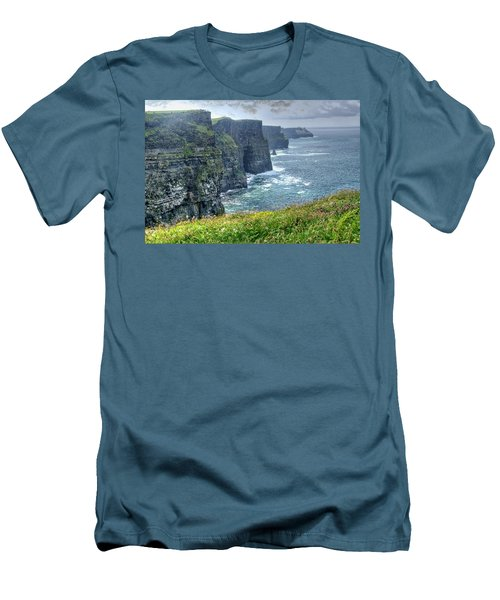 Men's T-Shirt (Slim Fit) featuring the photograph Cliffs Of Moher by Alan Toepfer