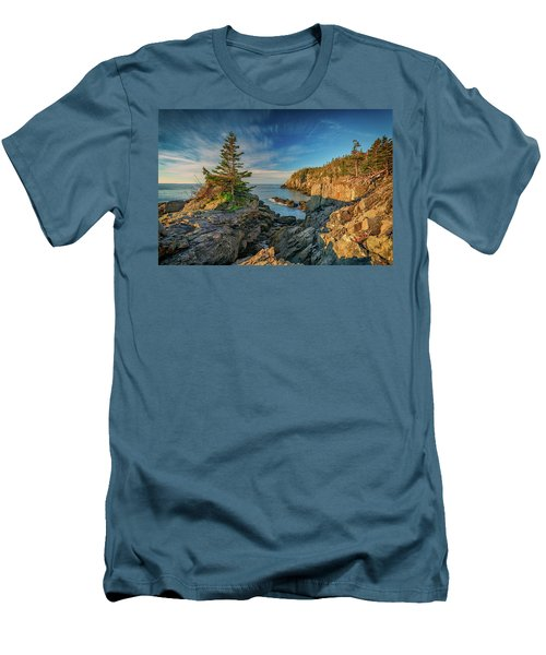 Men's T-Shirt (Athletic Fit) featuring the photograph Cliffs Of Quoddy Head State Park by Rick Berk