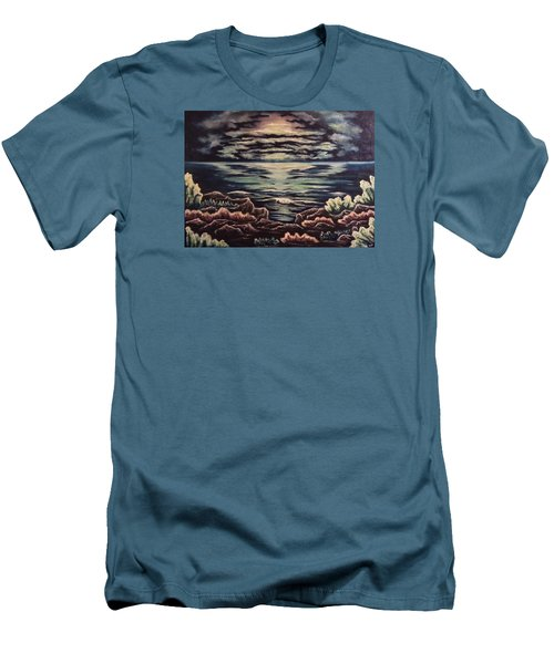 Cliffside Men's T-Shirt (Slim Fit) by Cheryl Pettigrew
