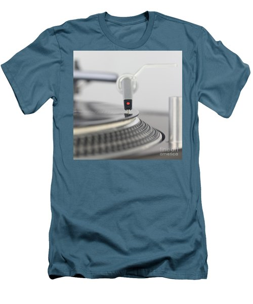 Closeup Of The Legendary Technics Sl 1200 Mk2 Turntable Men's T-Shirt (Athletic Fit)