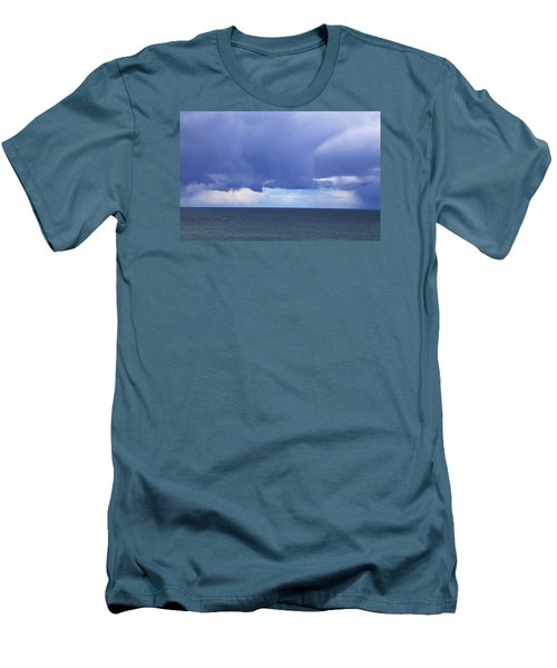 Men's T-Shirt (Athletic Fit) featuring the photograph Cloud Curtain by Nareeta Martin