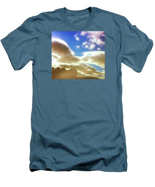 Cloud Drama Over Sangre De Cristos Men's T-Shirt (Slim Fit) by Anastasia Savage Ealy