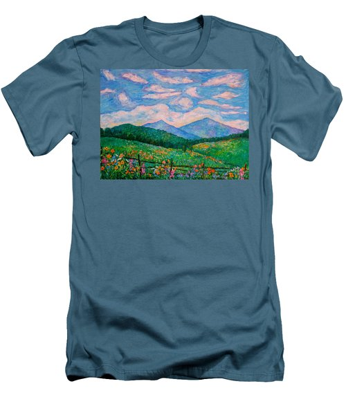 Cloud Swirl Over The Peaks Of Otter Men's T-Shirt (Slim Fit) by Kendall Kessler