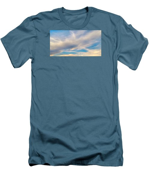 Cloud Wisps Men's T-Shirt (Slim Fit) by Audrey Van Tassell
