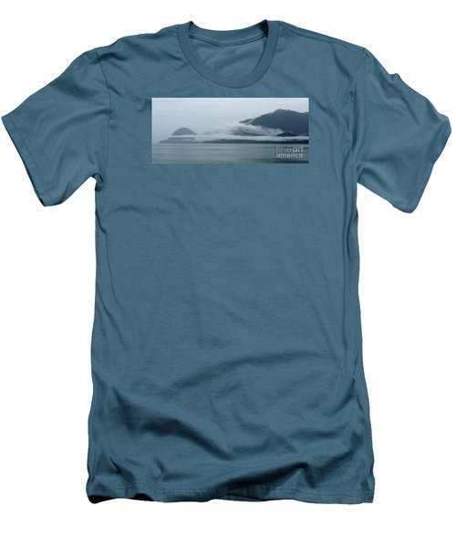 Cloud-wreathed Coastline Inside Passage Alaska Men's T-Shirt (Athletic Fit)