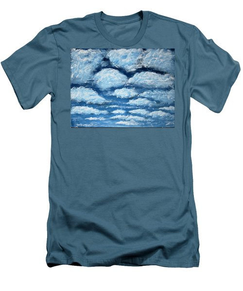 Men's T-Shirt (Slim Fit) featuring the painting Clouds by Antonio Romero