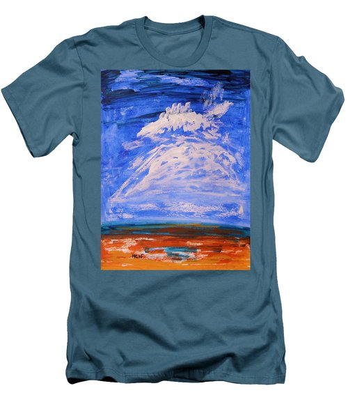Men's T-Shirt (Slim Fit) featuring the painting Clouds Dance by Mary Carol Williams