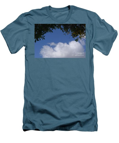 Men's T-Shirt (Slim Fit) featuring the photograph Clouds Framed By Tree by Nora Boghossian