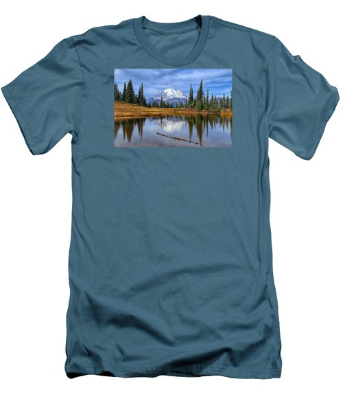 Clouds In The Morning Men's T-Shirt (Slim Fit) by Lynn Hopwood
