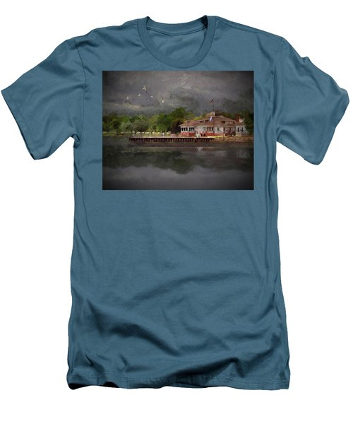Clouds Over The Harbor Men's T-Shirt (Athletic Fit)