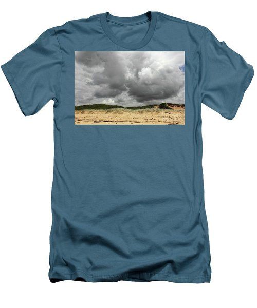 Men's T-Shirt (Slim Fit) featuring the photograph Cloudy Beach II By Kaye Menner by Kaye Menner