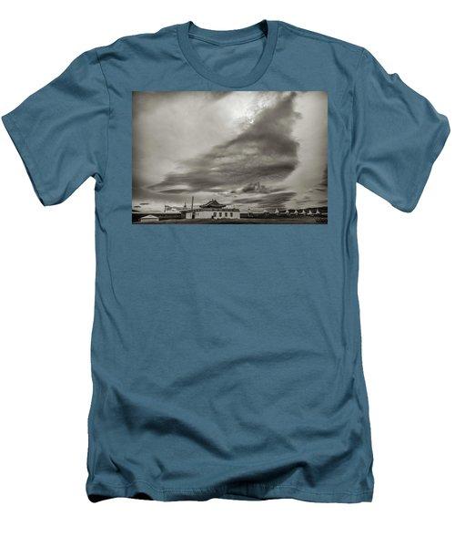 Men's T-Shirt (Slim Fit) featuring the photograph Cloudy Sky, Karakorum, 2016 by Hitendra SINKAR