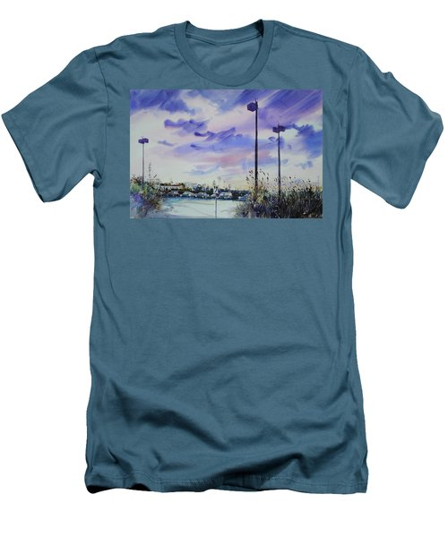 Coastal Beach Highway Men's T-Shirt (Slim Fit) by P Anthony Visco