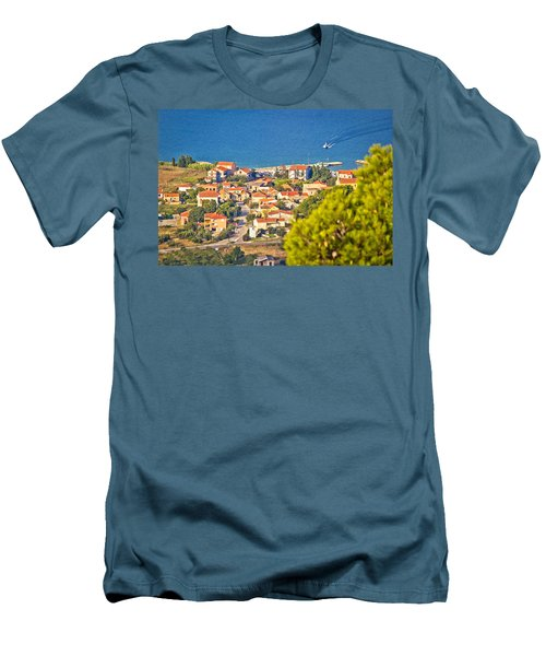 Coastal Village On Island Of Pasman Men's T-Shirt (Athletic Fit)