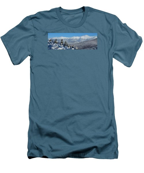 Cold Winter Day On Haystack Nubble Men's T-Shirt (Athletic Fit)