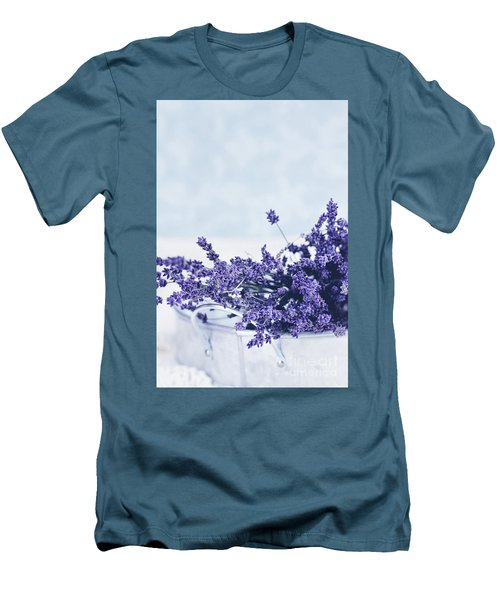 Collection Of Lavender  Men's T-Shirt (Slim Fit) by Stephanie Frey