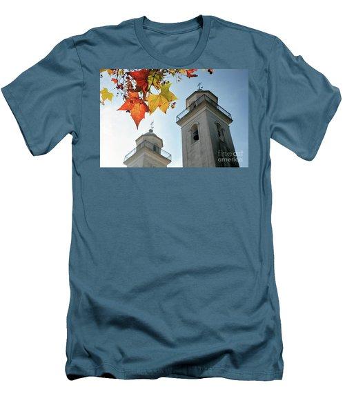 Men's T-Shirt (Slim Fit) featuring the photograph Colonia Del Sacramento Church by Bernardo Galmarini