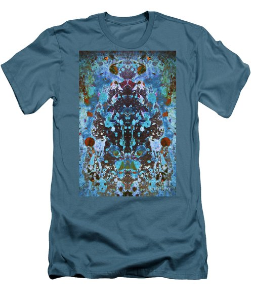 Color Abstraction Iv Men's T-Shirt (Slim Fit) by David Gordon