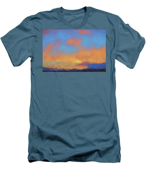 Men's T-Shirt (Slim Fit) featuring the digital art Color Abstraction Lvii by David Gordon