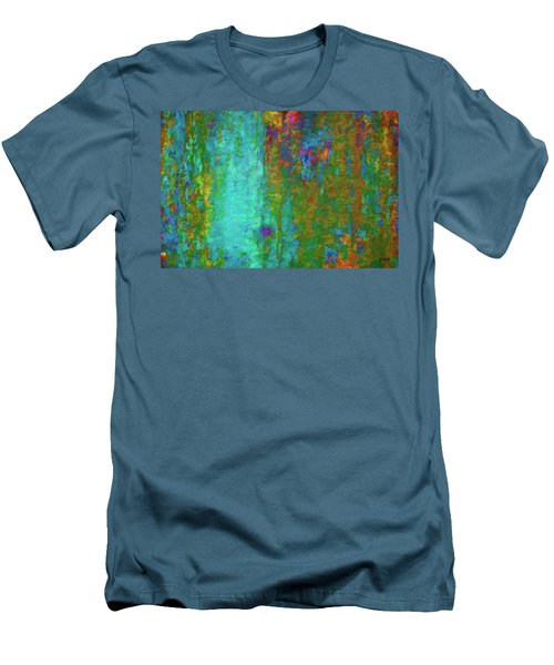 Color Abstraction Lxvii Men's T-Shirt (Athletic Fit)