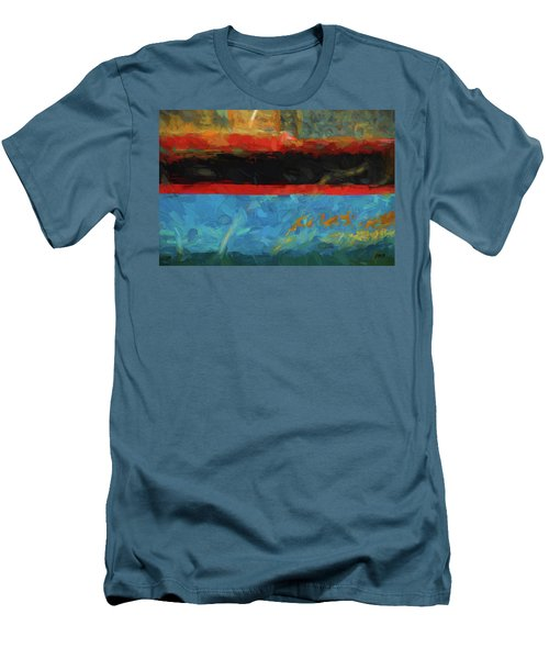 Color Abstraction Xxxix Men's T-Shirt (Slim Fit) by David Gordon