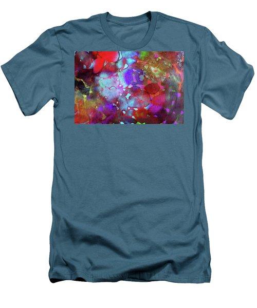 Color Burst Men's T-Shirt (Slim Fit) by AugenWerk Susann Serfezi