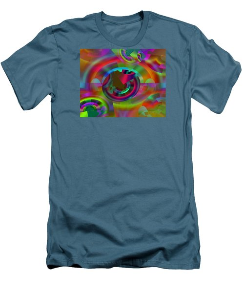 Men's T-Shirt (Slim Fit) featuring the digital art Color Dome by Lynda Lehmann