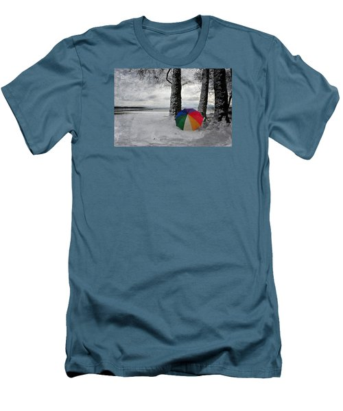 Color To The Melancholy Men's T-Shirt (Slim Fit) by Randi Grace Nilsberg