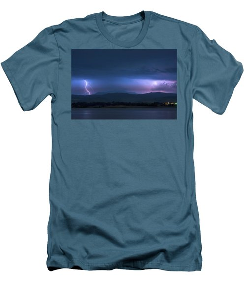 Men's T-Shirt (Slim Fit) featuring the photograph Colorado Rocky Mountain Foothills Storm by James BO Insogna