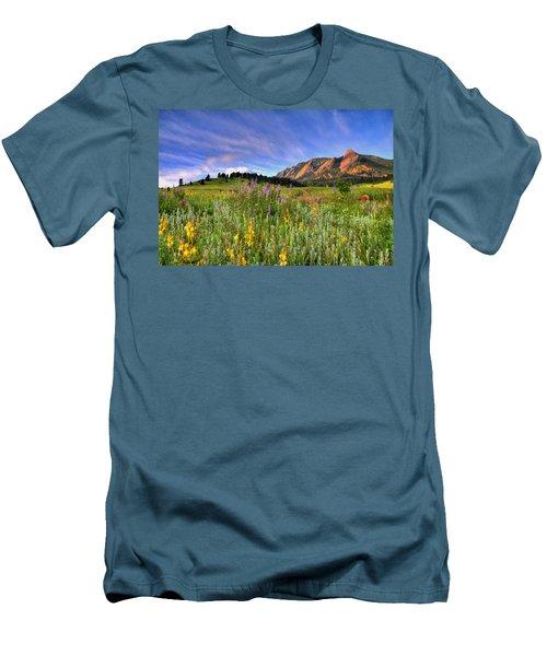 Colorado Wildflowers Men's T-Shirt (Slim Fit) by Scott Mahon
