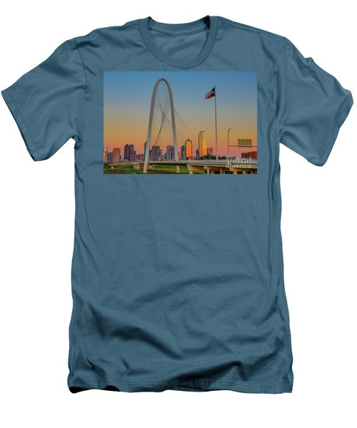 Colorful Dallas Sunset Men's T-Shirt (Athletic Fit)