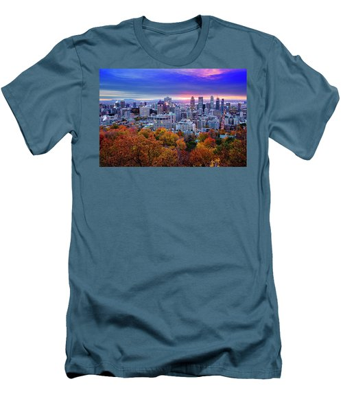 Men's T-Shirt (Slim Fit) featuring the photograph Colorful Montreal  by Mircea Costina Photography