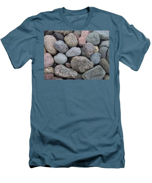 Men's T-Shirt (Slim Fit) featuring the photograph Colorful Rocks by Richard Bryce and Family