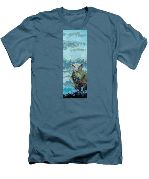 Colorful Sky And Sheep - Narrow Painting Men's T-Shirt (Athletic Fit)