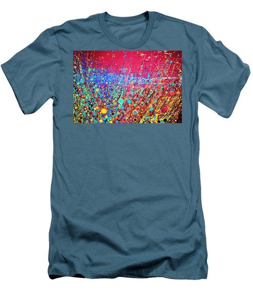 Men's T-Shirt (Slim Fit) featuring the digital art Colorful Spring by Maja Sokolowska
