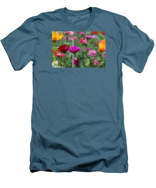 Colorful Summer Men's T-Shirt (Slim Fit) by Yumi Johnson