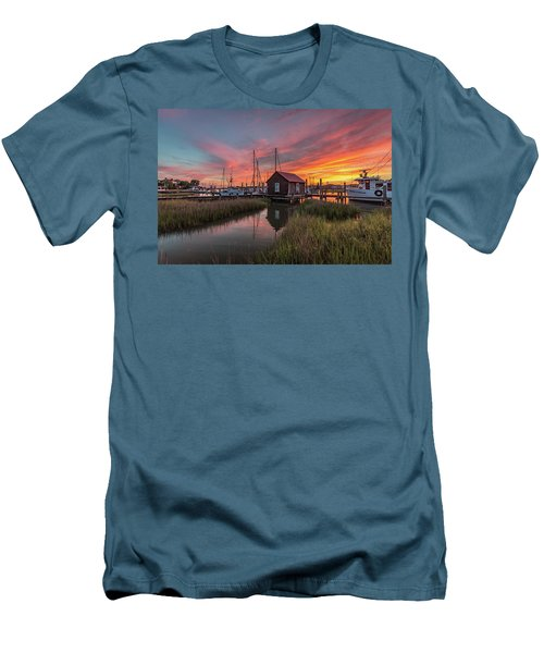 Colors Of Shem Creek - Mt. Pleasant Sc Men's T-Shirt (Athletic Fit)