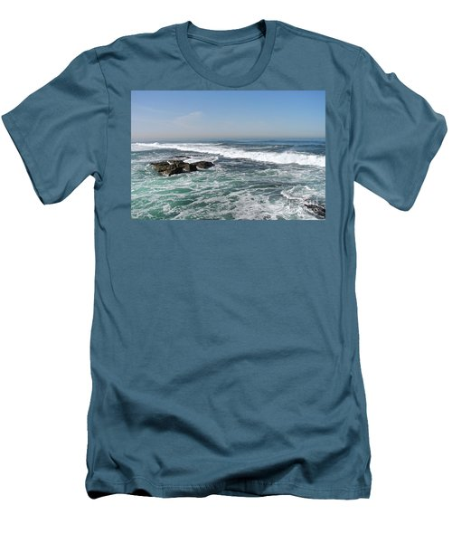 Men's T-Shirt (Slim Fit) featuring the photograph Colors Of The Sea by Carol  Bradley