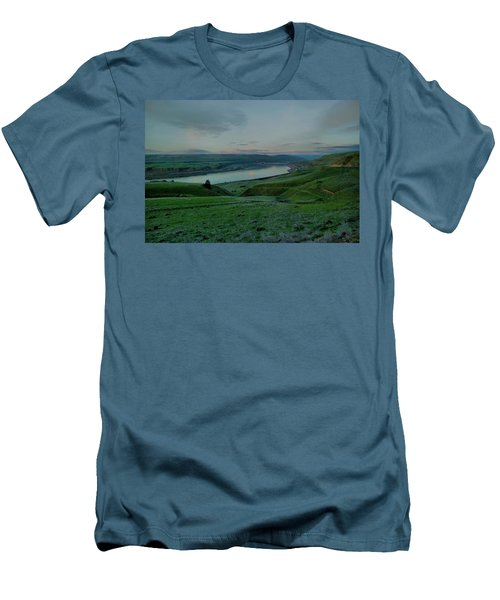 Men's T-Shirt (Slim Fit) featuring the photograph Columbia Gorge In Early Spring by Jeff Swan