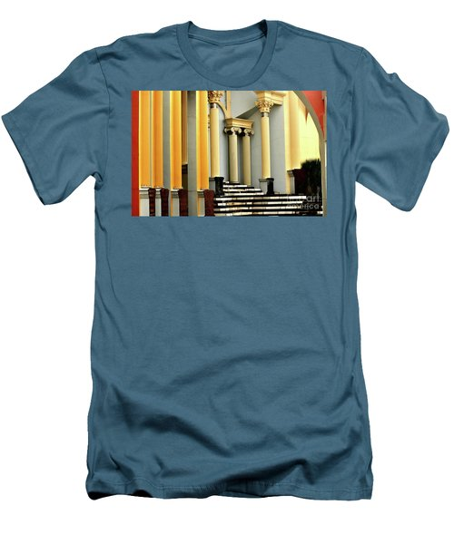 Columns At Plaza De Italia Men's T-Shirt (Athletic Fit)