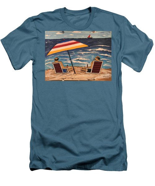 Comb Over Brothers Men's T-Shirt (Slim Fit) by Jeffrey Koss
