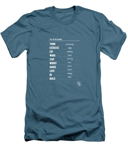 Combination Of All Type Of Typography Quotes Poster Men's T-Shirt (Athletic Fit)