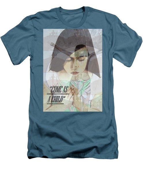 Come As A Child Men's T-Shirt (Slim Fit) by Saribelle Rodriguez