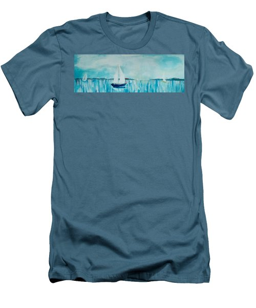 Come Sail Away Men's T-Shirt (Slim Fit) by Gary Smith
