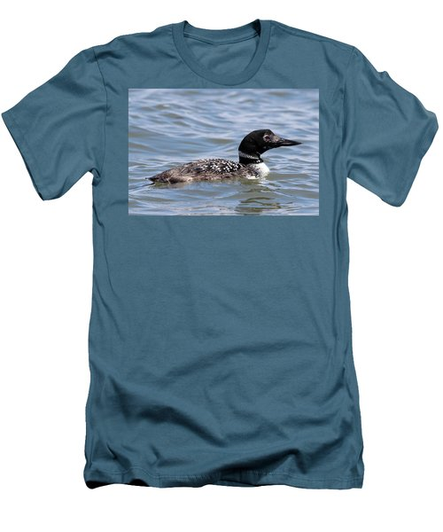 Common Loon Port Jefferson New York Men's T-Shirt (Athletic Fit)