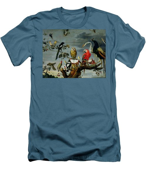 Concert Of Birds Men's T-Shirt (Slim Fit) by Frans Snijders