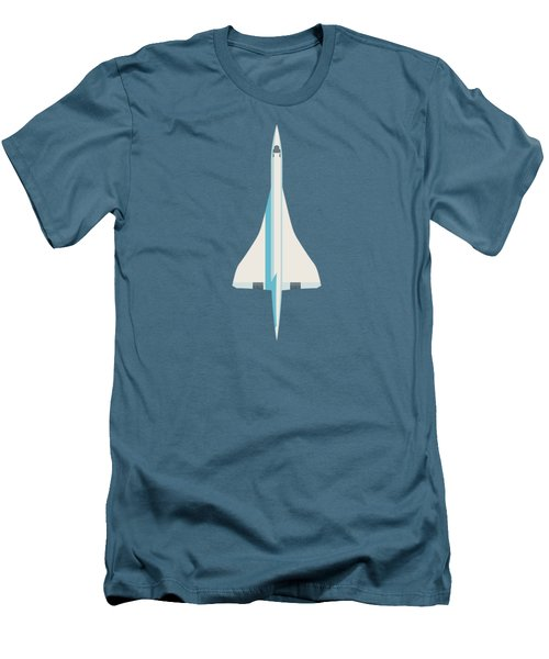 Concorde Jet Passenger Airplane Aircraft - Slate Men's T-Shirt (Slim Fit)