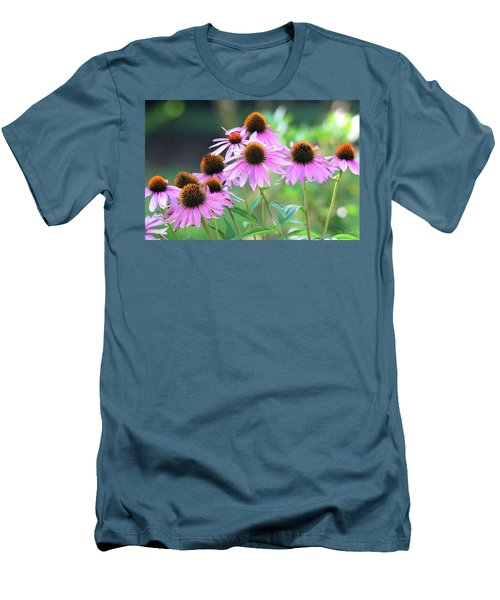 Men's T-Shirt (Athletic Fit) featuring the photograph Coneflowers by Trina Ansel